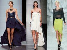 Vestidos y faldas con cola