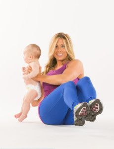 workout with baby as your counterweight! Wish I had started this when Ro was first born, then I could have worked up to her 27lbs!