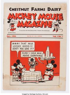 Mickey Mouse Magazine Dairy Giveaway V1#1 (Walt Disney | Lot #15556 | Heritage Auctions