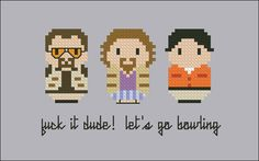 The Big Lebowski Cross stitch PDF pattern by cloudsfactory