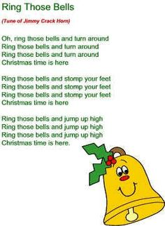Ring those bells turn around Christmas song (Preschool/JK/SK with bells) Christmas Songs For Toddlers, Childrens Christmas Songs, Preschool Christmas Songs, Preschool Poems, Xmas Songs, Preschool Music, Santa Songs, Christmas Concert, Christmas Music