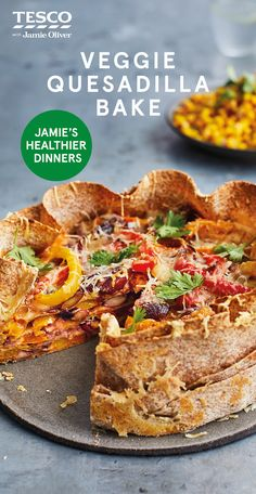 Jamie Oliver has given vegetables a spicy kick in his colourful and cheesy flavour-packed veggie quesadilla bake. Find more Healthy recipes at Tesco Real Food. Veg Recipes, Mexican Food Recipes, Vegetarian Recipes, Cooking Recipes, Healthy Recipes, Veggie Quesadilla, Tesco Real Food, Veggie Delight, Savoury Dishes