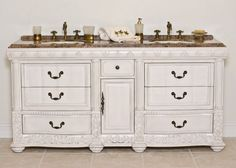 B&I 72 inches Phoenix Double Sink Bathroom Vanity White Finish White Vanity Bathroom, Sink Remodel, Modern Master Bathroom, Vanity, Victorian Bathroom, Small Bathroom Vanities, Bathroom Vanity Tops, Home Styles, Bathroom