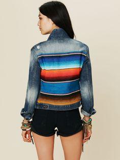 Mexican Stripe Denim Jacket
