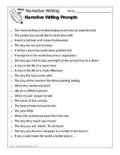 narrative essay topics for grade 8