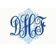 Monogrammed Bib Personalized Embroidered Baby by ChainStitchers