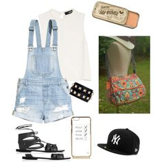 Easy Jeans Look by owlnightmare on Polyvore featuring polyvore moda style Nicholas H&M Topshop Valentino River Island