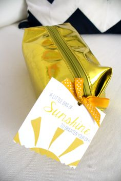 Send a little bag of sunshine to a friend who needs a smile (via 6th Street Design School)