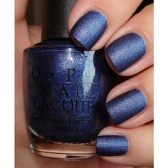 OPI Nail Polish in Russian Navy Suede ❤ liked on Polyvore featuring beauty products, nail care, nail polish, nails, makeup, beauty, opi, opi nail lacquer, opi nail color and opi nail care