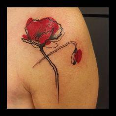 Merci Christelle ! #tattoo #tattoos #tattooed #tatouage #ink #inked #coquelicot #poppy #tattoopoppy #poppytattoo #blacktattoo #graphicdesign #graphictattoo #rouge #redtattoo #dot #dotwork #tattoodot #paint #mons