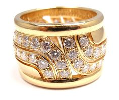 RARE Cartier 18K Diamond Band Ring 3 0 Ct E VVS1 Size 52 US 6 Cartier Box | eBay - $9,800