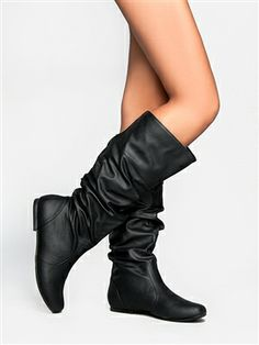 Delura KALEESI Slouchy Flat Boot | Shop Delura Shoes
