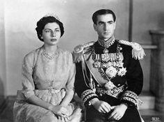 Soraya and Mohammad Reza Shah official portrait, 1950s.