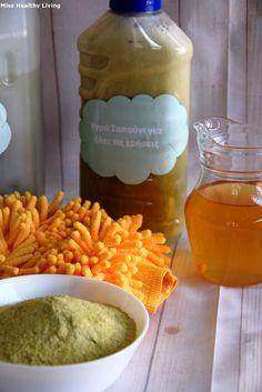 Πώς να φτιάξεις απορρυπαντικό με πράσινο σαπούνι - Miss Healthy Living Homemade Detergent, Cleaning Hacks, Healthy Living, Diy, House, Food, Healthy Life, Bricolage, Haus
