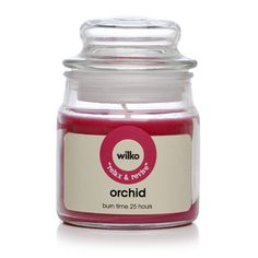 Wilko Candle Jar Orchid 3oz at wilko.com