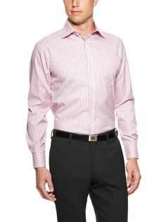 Long-sleeve wrinkle-resistant cotton button-front traveller dress shirt    Slim fit  Spread collar  Chest patch pocket  Single-button barrel cuffs with two-button option  Even hem with rounded shirt tail  Brand: Thomas Pink    Material: 100% Cotton    Origin: Imported
