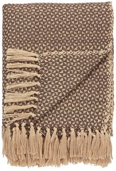When the weather turns cool, reach for a 100 percent cotton throw to add warmth Collection: National Geographic Home Color Family: Brown/White Primary Color: White Swan Border Color: Fungi Material: Cotton Brown Throws, Geometric Throws, Jaipur Rugs, White Swan, Global Style, Cotton Throws, Grey And Beige, National Geographic, Memory Foam