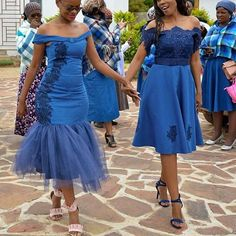 Top Traditional Dresses for Shweshwe in South Africa - Our Nail Striped Formal Dresses, Satin Formal Dress, African Attire, African Dress, African Wear, Shweshwe Dresses, Sequin Cocktail Dress, Cocktail Dresses, African Traditional Dresses