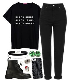 """~ Blacker than the sun ~"" by flowersoflife ❤ liked on Polyvore featuring Topshop, Dr. Martens, Savannah Hayes, Miss Selfridge and MANGO"