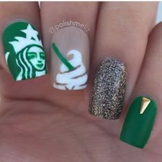 39 Best Starbucks Nails Images In 2015 Starbucks Nails Love Nails