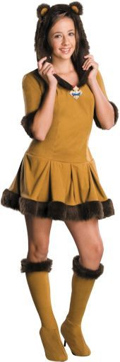 Wizard of Oz Cowardly Lion Costume for Teen Girls - Party City