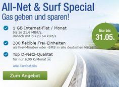 GMX: Handytarif jetzt mit 200 statt 100 Einheiten & 1 GByte für 6,99 Euro https://www.discountfan.de/artikel/tablets_und_handys/gmx-handytarif-jetzt-mit-200-statt-100-einheiten.php Alles neu macht der Mai: Waren im letzten Monat beim Handytarif von GMX und Web.de für 6,99 Euro im Monat nur 100 Inklusiv-Einheiten dabei, hat sich deren Zahl jetzt auf 200 verdoppelt. Das Surfvolumen ist mit einem GByte gleich geblieben. GMX: Handytarif jetzt mit 200 statt 100 Einheiten &