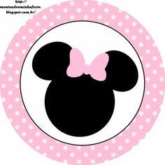 Minnie Rosa: Etiquetas para Candy Bar, para Imprimir Gratis.