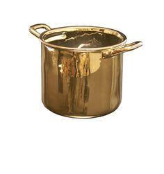 gold pan from future perfect. i would cook more if i had shinny pots and pans Les Gold, French Kitchen, Cooking Utensils, Decorative Objects, Kitchen Gadgets, Food Art, Porcelain, Digger, Homeland
