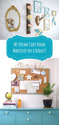 My dream craft room makeover on a budget!!