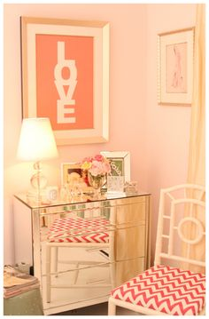 gorgeous for a guest space...maybe I could have one pink room???