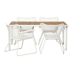 Hasselon table and Hogsten chairs for that outdoor living from IKEA