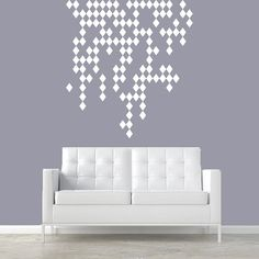 REXTON HOOD WALL? Wall Decal Vinyl Sticker Decals Art Decor Design Raining Diamonds Damask Pattern Geometric Moroccan Ornament Style Dorm Bedroom (r346)