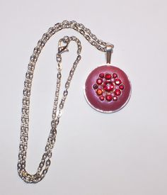 Unique Pink and Red Crystal Clay Rhinestone by Aliciasoldandnew, $25.00