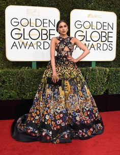 Olivia Culpo at the 74th Annual Golden Globe Awards at The Beverly Hilton Hotel on January 8, 2017 in Beverly Hills, California.