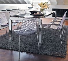 Connubia Calligaris | Ice Dining Chair | The textured back gives ...