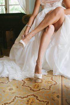 Simple, classic @gzdesign wedding shoes | Brides.com