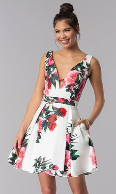 JVN By Jovani dress, White Print JVN By Jovani dresses V-neck Homecoming Dresses, V-Neck Homecoming Dresses, Homecoming Dress, Homecoming Dresses White Homecoming Dresses 2019 Homecoming Dress Stores, White Homecoming Dresses, Short Dresses, Summer Dresses, Formal Dresses, Dillards Dresses Formal, Designer Party Dresses, Jovani Dresses, Prom Gowns