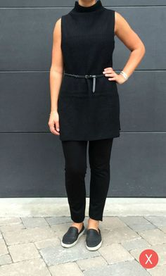 Sleeveless Knit Tunic. Belt it on an X Shape.