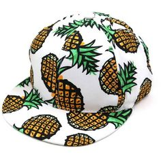 ABC Unisex Pineapple Snapback Bboy Hat Adjustable Baseball Cap Hip-hop... ($4.28) ❤ liked on Polyvore