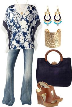 """Navy and White - Plus Size"" by alexawebb ❤ liked on Polyvore"