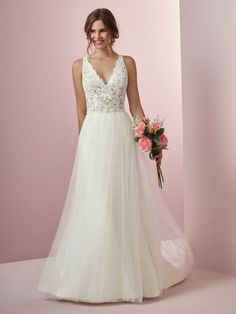 Wedding Dress Color Guide: Shades of White for Every Bride. Ivory wedding dresses by Rebecca Ingram - Connie.
