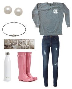 """Monogrammed t shirts are my fav!"" by jordan-clough on Polyvore featuring Hudson, Honora, Hunter, Urban Decay and S'well"