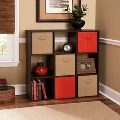 Ameriwood 9 Cube Storage Bookcase - 7642207P