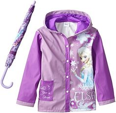 Fantasia Little Girls Frozen Elsa Umbrella Raincoat Set, Purple, Medium/Large Raincoat Jacket, Hooded Raincoat, Toy Cars For Kids, Toys For Girls, Little Girl Toys, Little Girls, Barbie Doll Set, Black Rain Jacket, Raincoats For Women