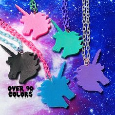 Pastel Goth Unicorn Necklace Fairy Kei Lolita by VixieAndMynx