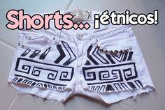 DIY: Diseña unos shorts étnicos
