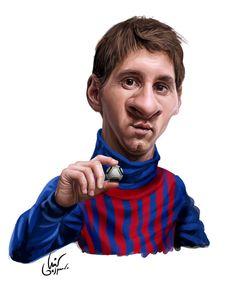 Messi #Caricature #FunnyFaces