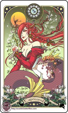 Aishlinn // Astrology deck card: Capricorn by BoryChan