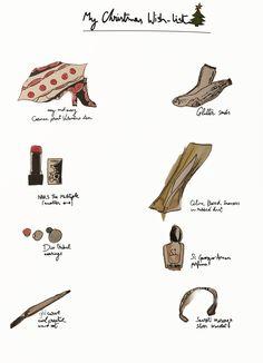 My Christmas Wish List. Illustration by Alexandra Constantine.