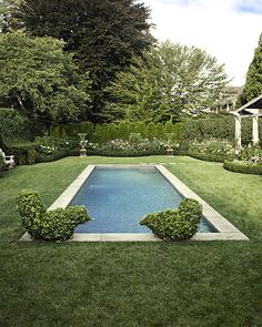 As part of a home renovation, this yard in East Hampton, N.Y., got a landscaped garden and saltwater pool.